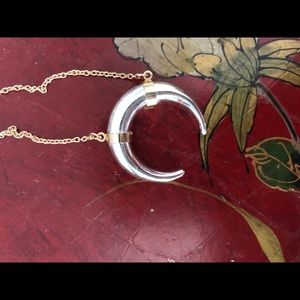 Stella and dot half moon necklace